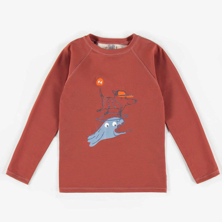 T-shirt de bain à manches longues, enfant garçon || Long-sleeve swim T-shirt, child boy