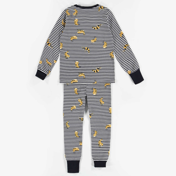 Pyjama deux-pièces évolutif bleu à motif || Adjustable Two-piece patterned blue Pajamas