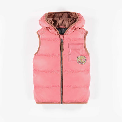 Veste sans manches rose, enfant || Pink Sleeve-free Vest, child