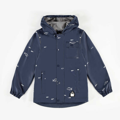 Imperméable marine avec poissons || Navy Raincoat with fishes