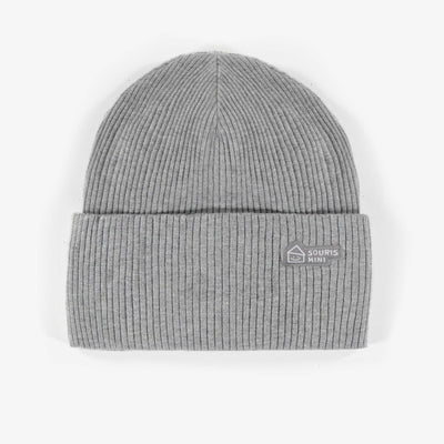 Tuque grise en coton biologique || Grey organic cotton Toque