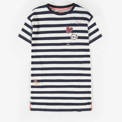 Robe rayée, enfant fille  || Striped Dress, Girl