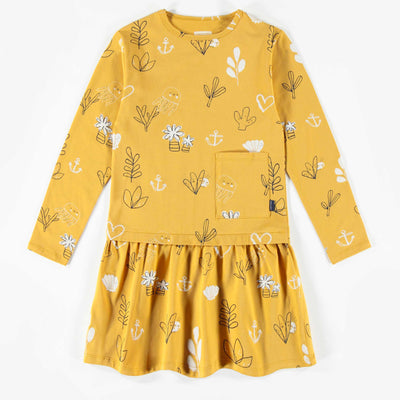 Robe jaune à motifs || Yellow Pattern Dress