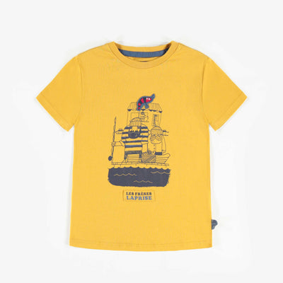T-shirt jaune à manches courtes, garçon || Yellow Short-Sleeve T-shirt, Boy