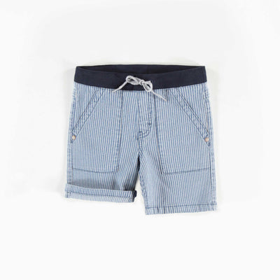 Short de denim rayé, garçon  || Denim Striped Shorts, Boy