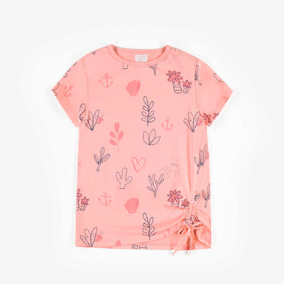 T-shirt rose à manches courtes, enfant fille  || Pink Short-Sleeve T-shirt, Girl