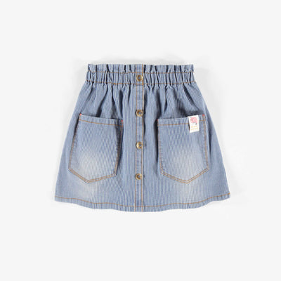 Jupe en denim, enfant fille  || Denim Skirt, Girl