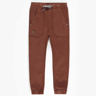 Pantalon Denim brun extensible, enfant garçon || Brown stretch denim pants, child boy