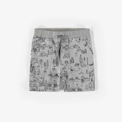 Shorts grises à motifs || Grey patterned shorts