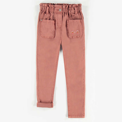 Pantalon de denim brun, enfant fille  || Brown Denim Pants, Girl
