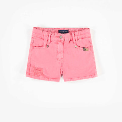 Short en denim rose, enfant fille 