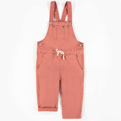 Salopette brune en denim, enfant fille  || Brown Denim Overalls, Girl