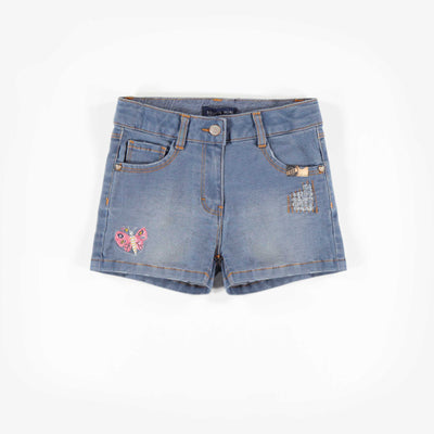 Short en denim, enfant fille 