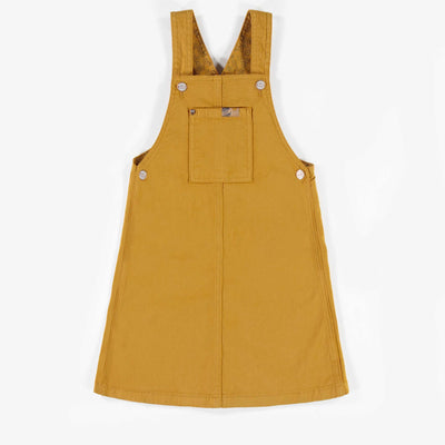 Robe salopette jaune en denim, enfant fille  || Yellow Denim Overalls Dress, Girl