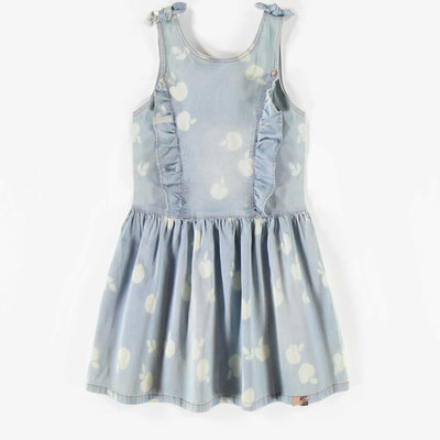 Robe de denim léger, enfant fille || Light Denim Dress, child girl