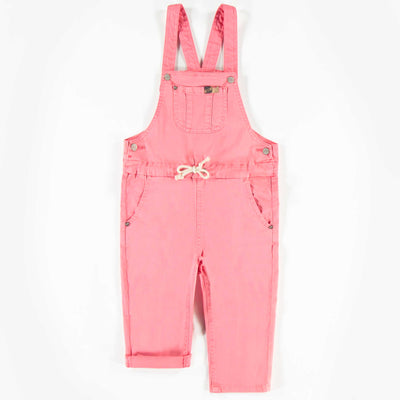 Salopette rose en denim, enfant fille  || Pink Denim Overalls, Girl