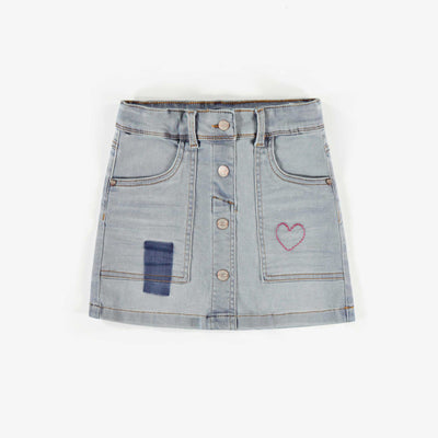 Jupe de denim, enfant fille || Denim Skirt, child girl