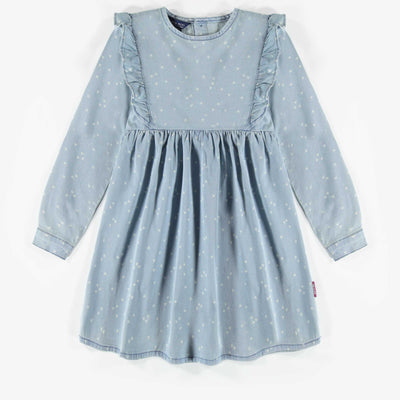 Robe de denim léger à motif || Light patterned Denim Dress