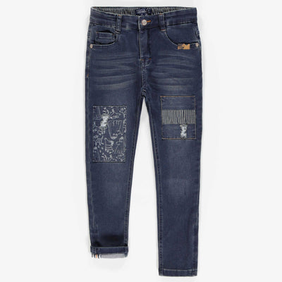 Pantalon en denim doux extensible, coupe ajustée || Slim fit Soft Denim pants