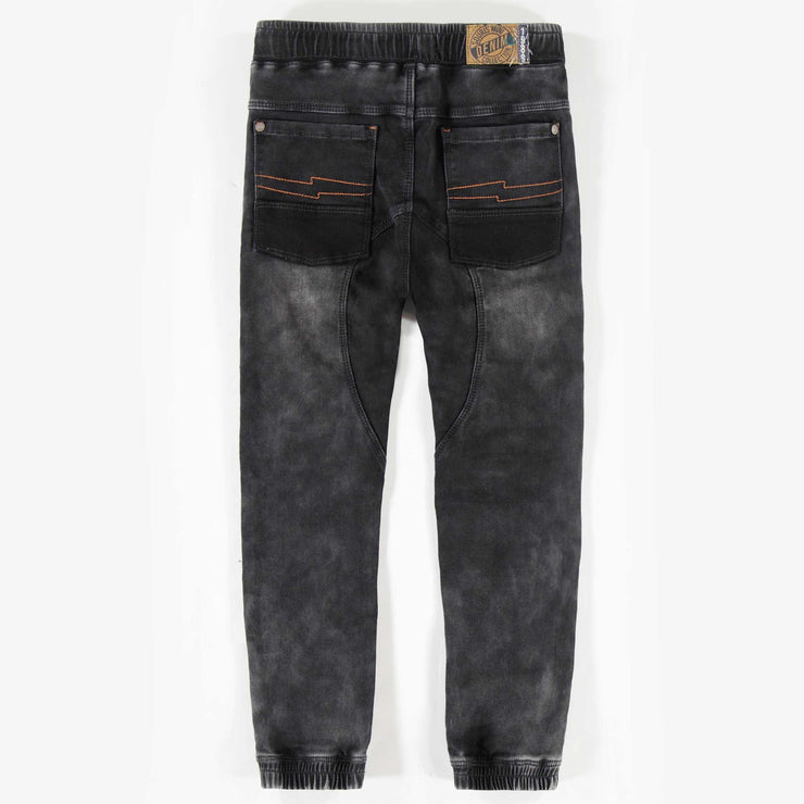 Pantalon de denim noir, garçon || Black Jog Denim Pants, Boy