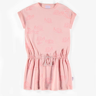 Robe rose à motifs, enfant fille  || Pink Pattern Dress, Girl
