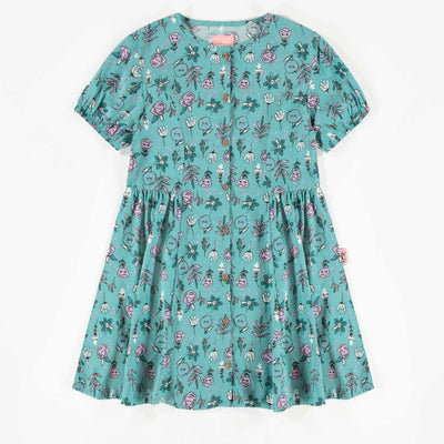 Robe bleue à motifs, enfant fille  || Blue Pattern Dress, Girl