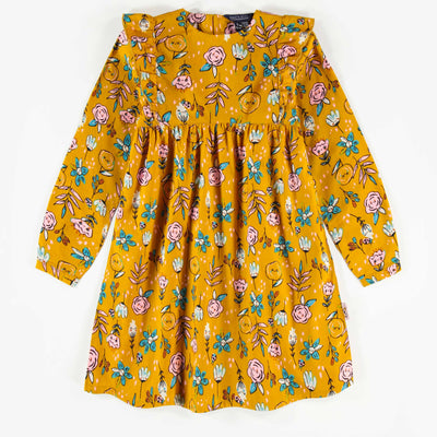Robe jaune à manches longues, enfant fille || Yellow long-sleeve Dress, child girl