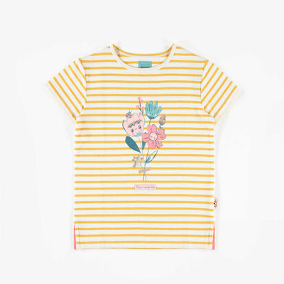T-shirt rayé à manches courtes, enfant fille  || Striped Short-Sleeve T-shirt, Girl