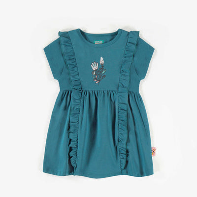 Tunique aqua foncé, enfant fille  || Dark aqua Tunic, child girl