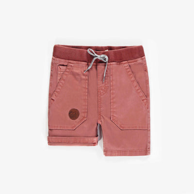 Short de denim extensible coloré, garçon || Colored stretch denim shorts, boy
