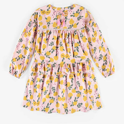 Robe rose à motifs, enfant fille  || Pink patterned Dress, child girl