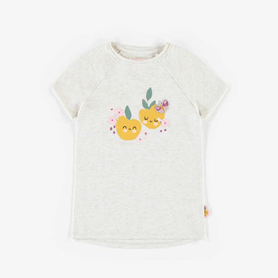 T-shirt en jersey brillant, enfant fille || Shiny jersey T-shirt, child girl