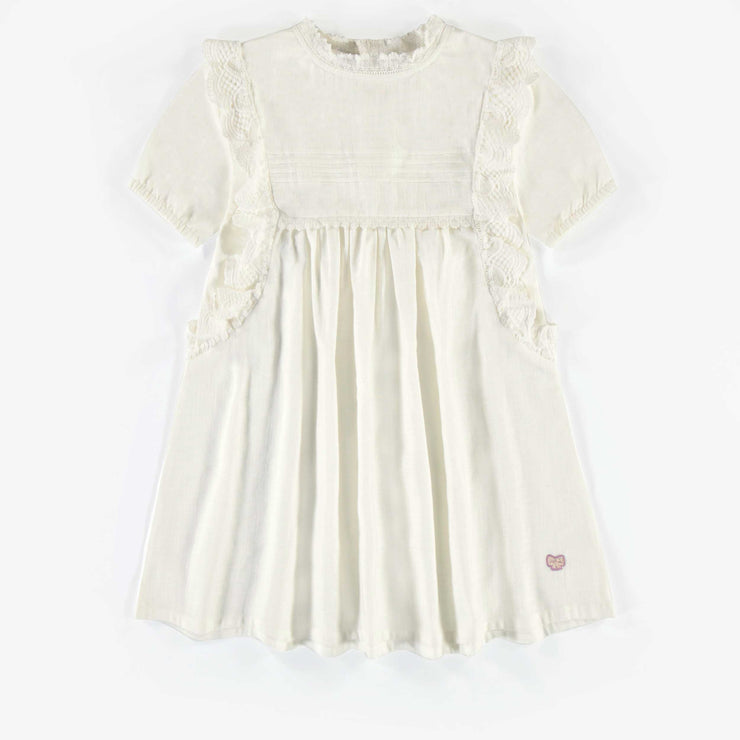 Robe tunique ivoire, enfant fille  || Ivory tunic dress, child girl