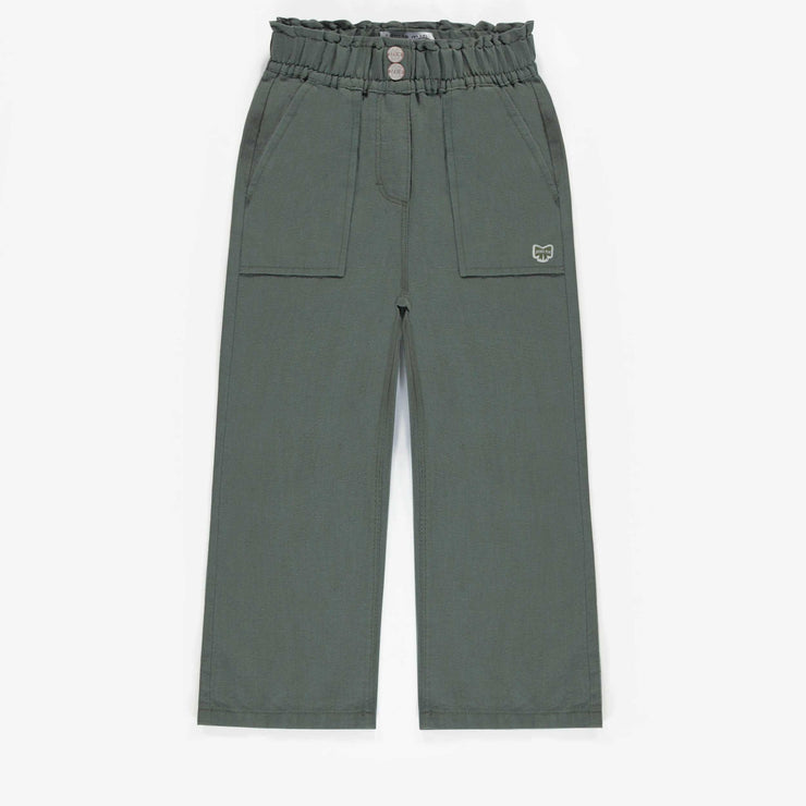 Pantalon vert de coupe large, enfant fille || Wide cut green Pants, child girl