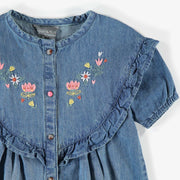 Robe de denim bleue, fille || Blue denim Dress, girl