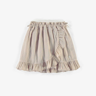 Jupe crème en mousseline, fille || Cream muslin skirt, girl