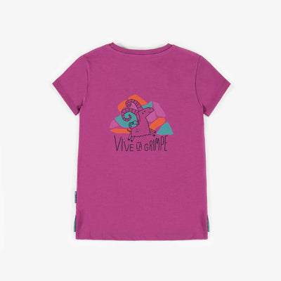 T-shirt sport violet, fille || Violet Sporty T-shirt, girl
