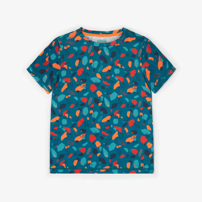 T-shirt sport à motifs, garçon || Patterned sport t-shirt, boy