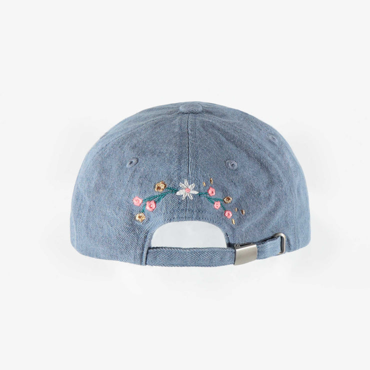 Casquette bleue en denim, enfant fille || Blue denim cap, child girl