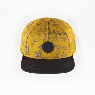 Casquette jaune à motifs, enfant garçon  || Yellow patterned Cap, child boy