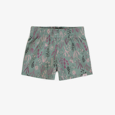 Short fleuri vert pâle || Pale green floral pattern short