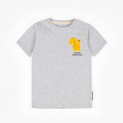 T-shirt gris écureuil à manches courtes || Grey short-sleeve squirrel T-shirt