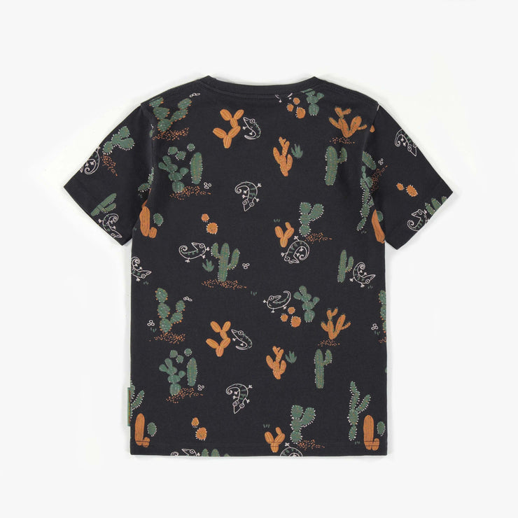 T-shirt noir à motifs de cactus || Black cactus patterned T-shirt