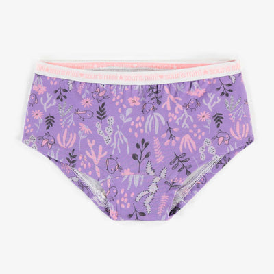 Culotte garçonne mauve à motifs, fille || Purple patterned Boy Short, girl