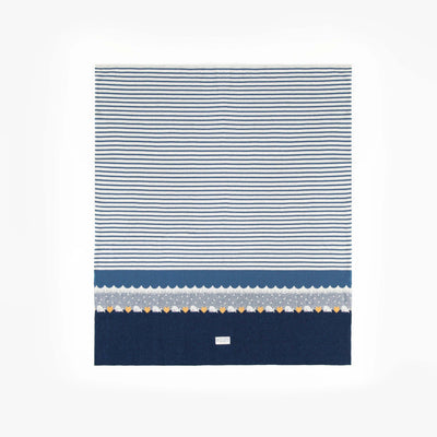 Couverture nautique en maille  || Nautical Knit Blanket