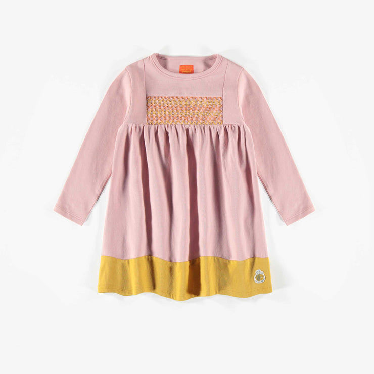 Robe rose à manches longues biologique   || Organic Long-Sleeve Pink Dress