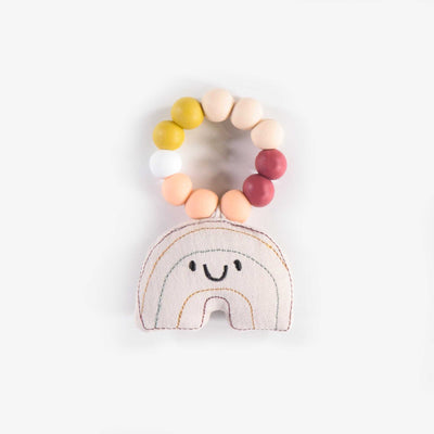 Jouet de dentition arc-en-ciel, nouveau-né || Rainbow Teether, newborn