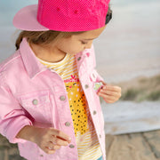 Blouson en denim rose || Pink Denim Jacket