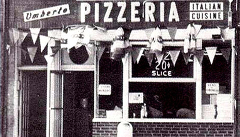 The original Umberto's Pizza Storefront