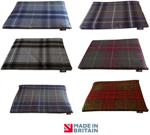 Load image into Gallery viewer, Country Range Luxury Crate / Cage Mat | Tartan Check Fabric | Hand Made To Order | Machine Washable